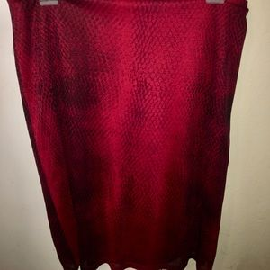 Express snake print skirt